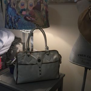 Burberry Tote Whte Leather Hobo Bag
